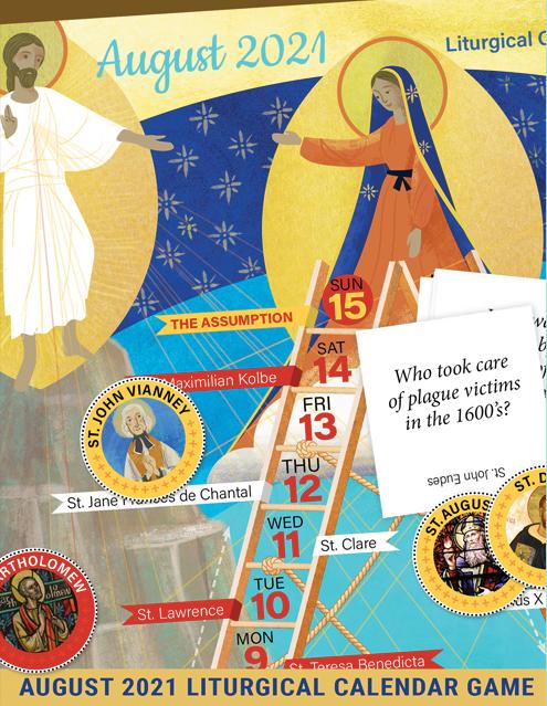 August 2021 Liturgical Calendar Game