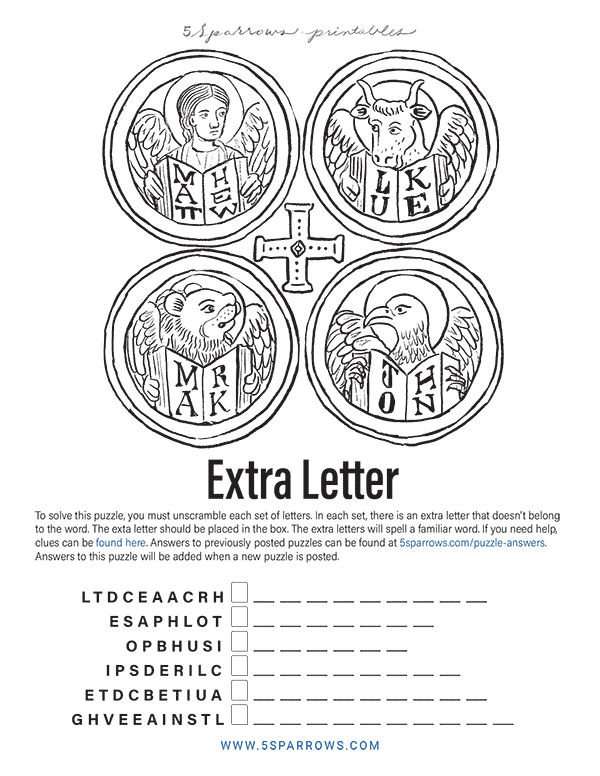 Extra Letter Puzzle